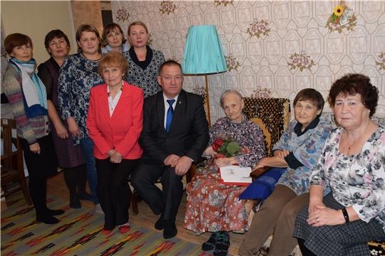 100-летний юбилей отметила жительница Красночетайского района Лидия Алексеевна Стекольщикова