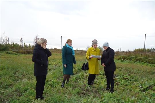Выездной осмотр земельных участков, предоставленных многодетным семьям в г. Ядрин