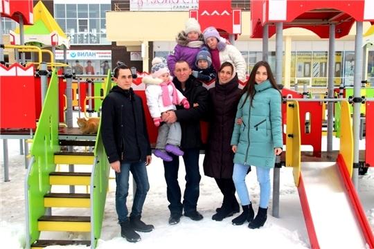 Семью Мешковых из Новочебоксарска наградили медалью ордена «Родительская слава»
