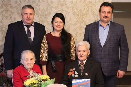 Супруги Сироткины Василий Семенович и Анна Николаевна из Порецкого района отметили коронную свадьбу – 75-летие совместной жизни