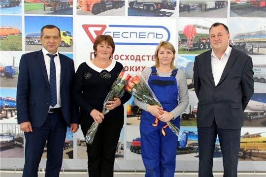 Глава администрации района Ростислав Тимофеев поздравил коллектив ЗАО «ЧП  «Сеспель» с Днем машиностроителя
