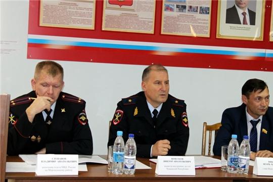 Министр внутренних дел по Чувашской Республике Виктор Шметков посетил Моргаушский район