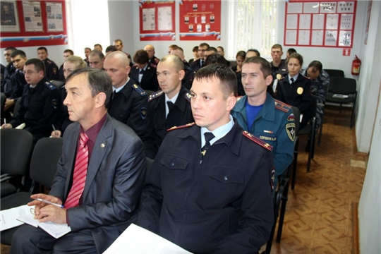 Полицейские Моргаушского района подвели итоги деятельности отдела за 9 месяцев текущего 2019 года