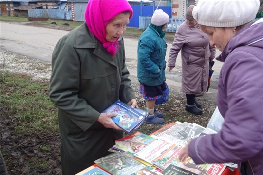 Кашмашская сельская библиотека совместно с автолавкой выехали к жителям выселок Хоракасы