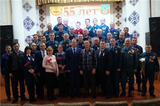 Коллектив ПЧ-37 КУ «ЧРПС» МЧС Чувашии отметил 55-летие пожарной части