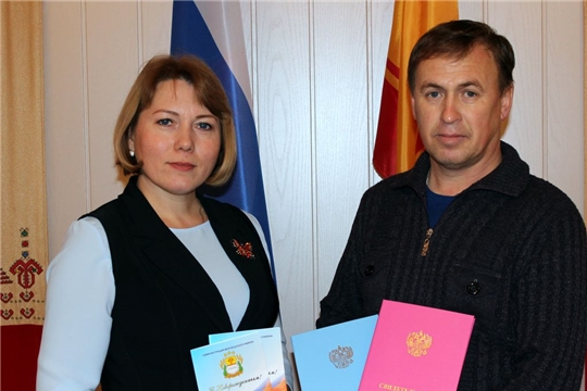 В преддверии дня Матери в отделе ЗАГС администрации Моргаушского района зарегистрирована королевская двойня