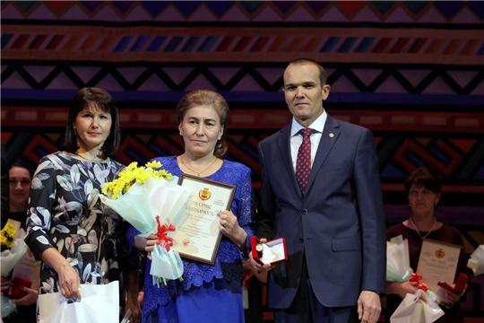 В преддверии Дня матери удостоилась Благодарности Главы Чувашской Республики
