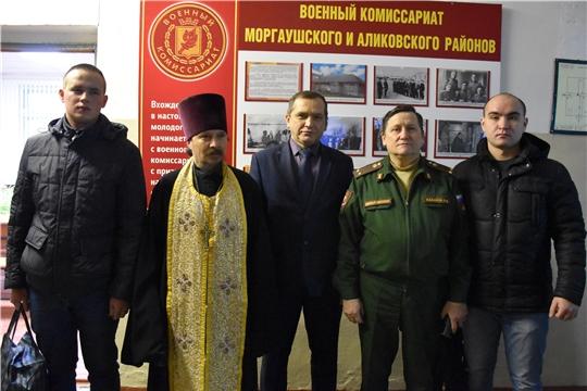 Глава администрации Моргаушского района Р.Н. Тимофеев: «Служите честно и достойно. Здесь вас ждут ваши родные и близкие»