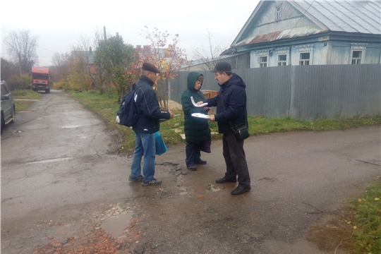 В жилом секторе Московского района г. Чебоксары проверили правила соблюдения пожарной безопасности