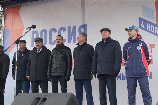Жители Московского района г. Чебоксары приняли участие в мероприятии, приуроченном ко Дню народного единства