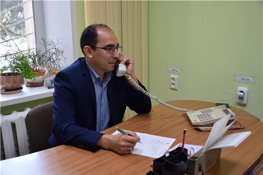 7 ноября «Прямую линию» проведет и.о. главы администрации Московского района г. Чебоксары Юрий Константинов