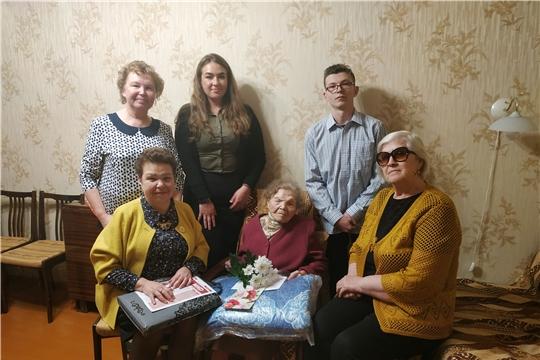 Поколение героев-победителей: долгожителей Московского района г. Чебоксары поздравили с 95-летием