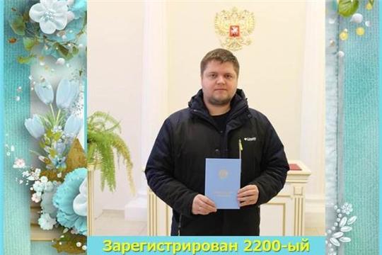 В Московском районе г. Чебоксары зарегистрировано рождение 2200-го ребенка, родившегося с начала года