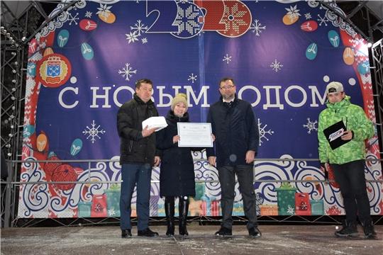 В парке культуры и отдыха им. 500-летия г. Чебоксары состоялось открытие ёлки Московского района «Молодой-2020»