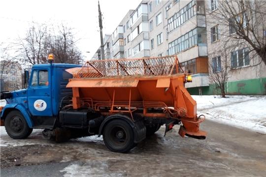 Управляющие организации Московского района г. Чебоксары задействованы в проведении противогололедных мероприятий