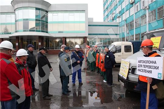 На «Химпроме» в ходе учений ликвидировали условную ЧС