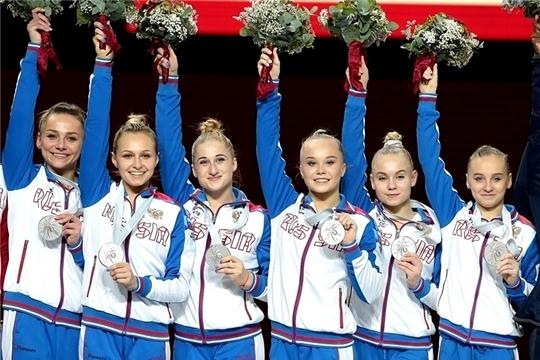 Новочебоксарка Дарья Спиридонова в составе сборной команды России по спортивной гимнастике стала призером чемпионата мира