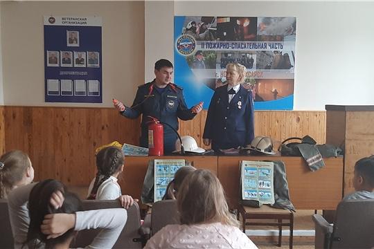 Новочебоксарские школьники побывали на Дне открытых дверей в пожарной части № 11