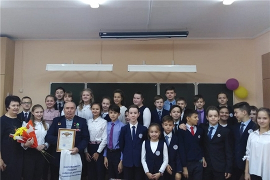 гимназисты встретились с Почетным гражданином города Аркадием Алексеевичем Алексеевым