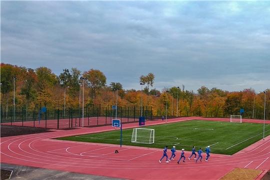 Уроки физической культуры для обучающихся Чувашского кадетского корпуса проходят на новом стадионе
