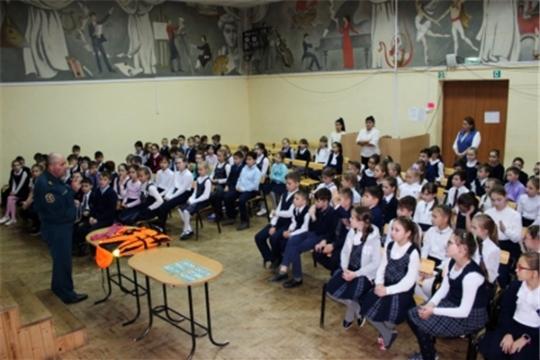 В школах Чувашиипроходит профилактическая акция МЧС России «Осторожно! Первый лед»