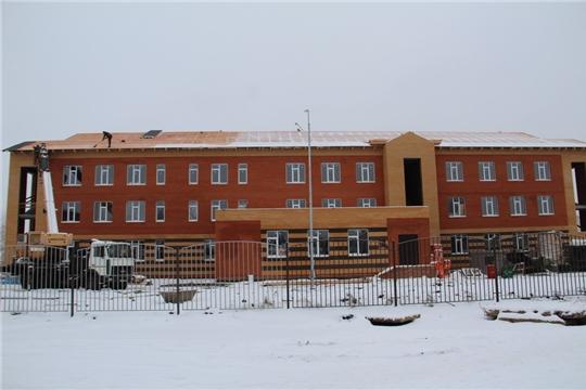 Председатель Кабмина Чувашии Иван Моторин проинспектировал ход строительства детского сада в Цивильске