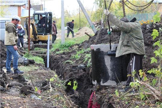 В Порецком в рамках федерального проекта «Чистая вода» строят новый водопровод