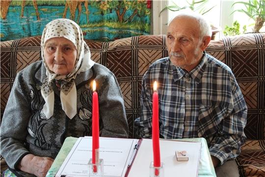 Супруги Клюковкины из села Напольное Порецкого района отметили железный юбилей свадьбы