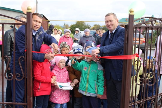 В Шемуршинском районе состоялось открытие  благоустроенного парка