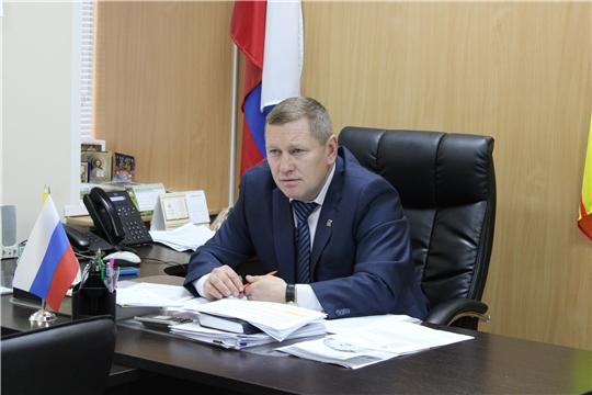 Глава администрации Шемуршинского района Владимир Денисов провел еженедельную рабочую планерку