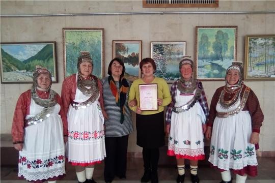 Квартет фольклорного коллектива «Тевет» Старошемуршинского сельского клуба – лауреат I степени