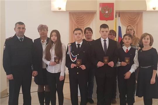 В отделе ЗАГС администрации Шемуршинского района состоялось торжественное вручение паспортов