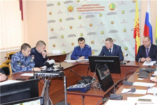 Заседание комиссии по профилактике правонарушений в Шемуршинском районе