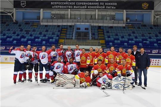 Состоялся товарищеский хоккейный матч между командами Правительства Чувашии и ВФСО «Трудовые резервы»