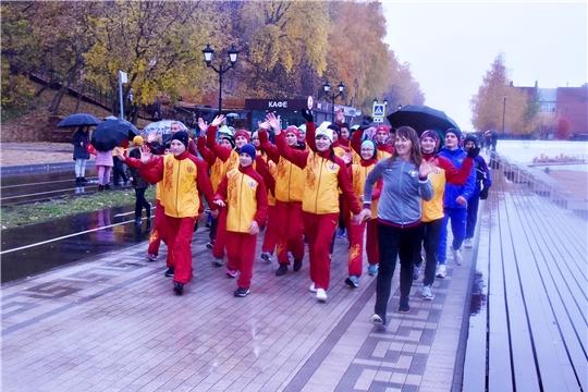 Около 1200 участников собрал Всероссийский день ходьбы в столице Чувашии