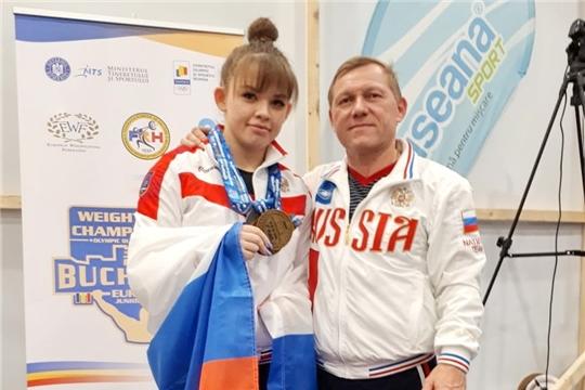 Наталия Шайманова – чемпионка Европы по тяжёлой атлетике среди молодёжи