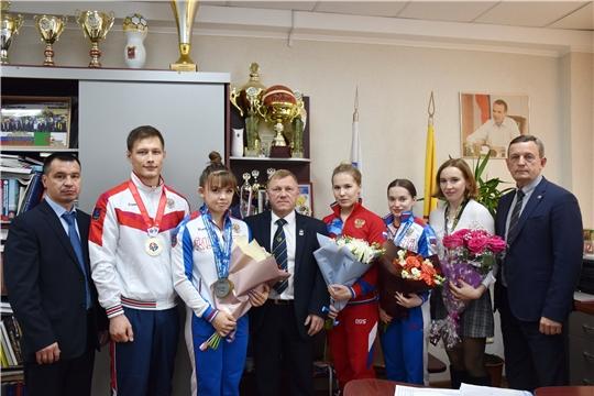 В Минспорта Чувашии состоялась встреча с победителями и призерами международных соревнований