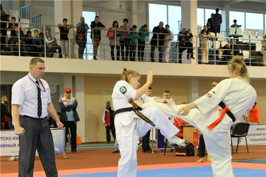 Спортсмены из восьми регионов разыграли в Новочебоксарске медали республиканского турнира по киокусинкай памяти А.Г.Николаева