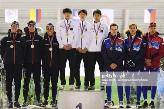 Тимур Карамов — бронзовый призер 1 этапа Кубка мира по конькобежному спорту среди юниоров