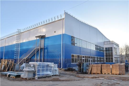 строительство Регионального центра по хоккею в Чебоксарах идёт по графику