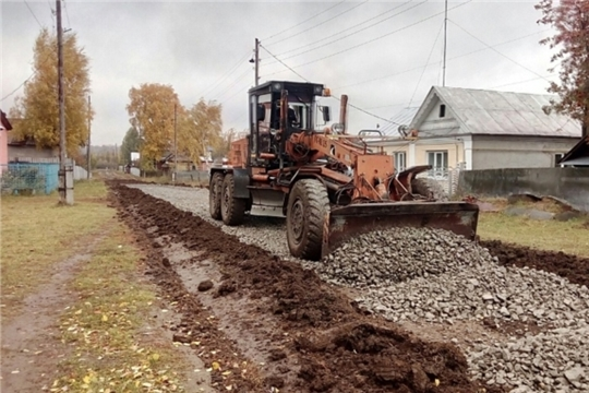 В Шоркистринском сельском поселении ведутся работы по ремонту автомобильных дорог