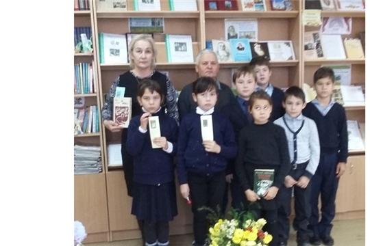 В Кудеснерской сельской библиотеке прошло  громкое чтение книг нашего земляка, народного писателя Чувашии В.С. Алендея