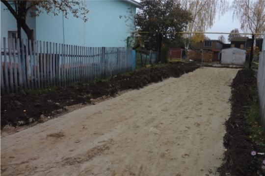 В Урмарах начались работы по ремонту дворовых территорий улиц Ленина и Молодежная