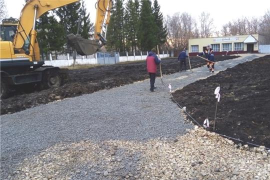 В деревне Тегешево продолжаются дорожные работы