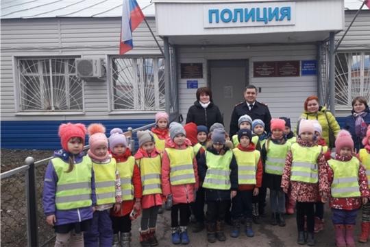 В преддверии Дня сотрудника органов внутренних дел дошкольники поздравили полицейских