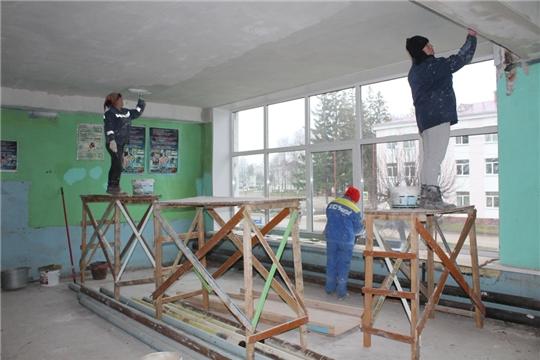 Капитальный ремонт Дома спорта п. Урмары
