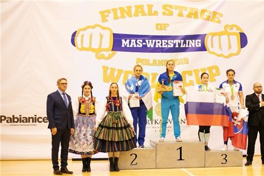Алексеева Алина - бронзовый призер Кубка Мира по мас-рестлингу