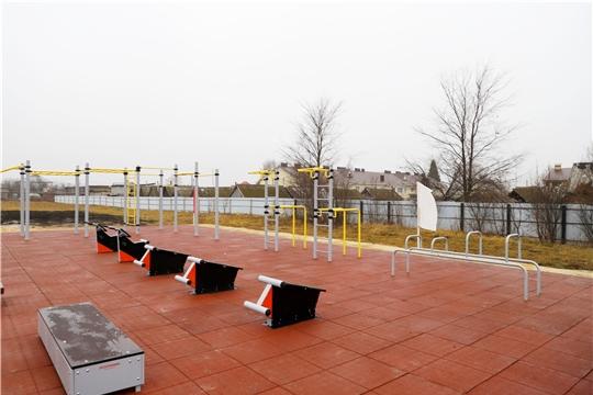 «Спорт – норма жизни»: открыта новая спортивная площадка в Комсомольском районе Чувашии