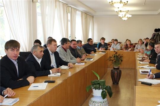 Заседание Совета глав городского и сельских поселений Урмарского района