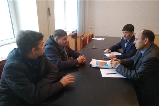Рабочая встреча с главой КФХ А.И. Захаровым и ЛПХ Ю.Г. Ивановым